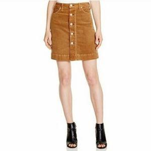 McGuire Denim Brown Courderoy Skirt